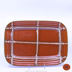 Pacific Pottery Hostessware Decorated BG 617 Tray Red
