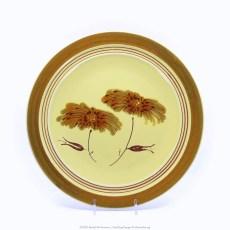 Pacific Pottery Hostessware Decorated Chrysanthemum 613 Dinner Plate Yellow