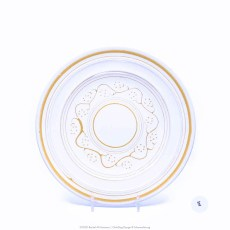 Pacific Pottery Hostessware Decorated E 611 Luncheon Plate White