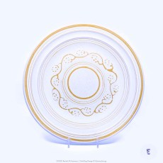 Pacific Pottery Hostessware Decorated E 613 Dinner Plate White