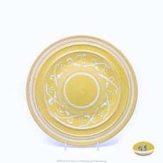 Pacific Pottery Hostessware Decorated G3 611 Luncheon Plate Yellow
