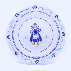 Pacific Pottery Hostessware Decorated Windmill 613 Dinner Plate White