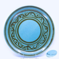 Pacific Pottery Hostessware Decorated hmc A502 624 Low Bowl Green