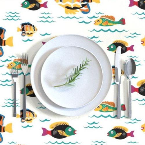 QwkDog Merida Fish Design Tablecloth 03
