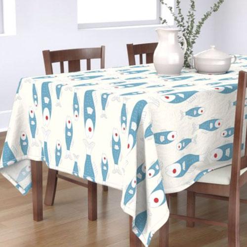 QwkDog Merida Pescadore Design Tablecloth 01