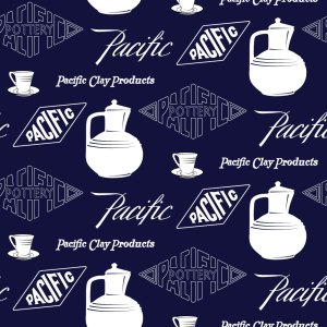 Pacific Pottery Logo Fabric Design