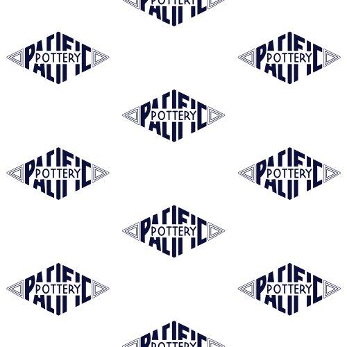 QwkDog Pacific Pottery Logo Print White