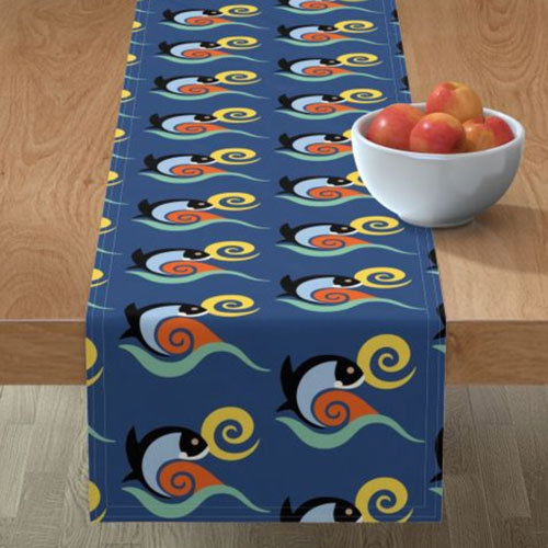 QwkDog California Fish Tile Design Pattern Runner 02