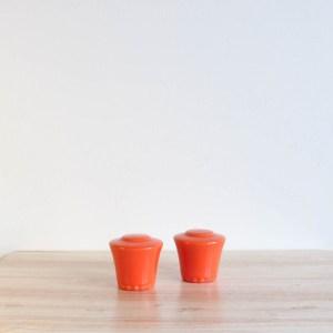 Vernon Kilns Coronado Shakers Orange