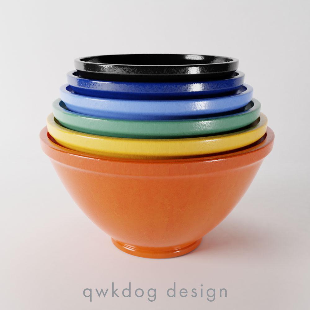 QwkDog Bauer Pottery Plainware Mixing Bowls