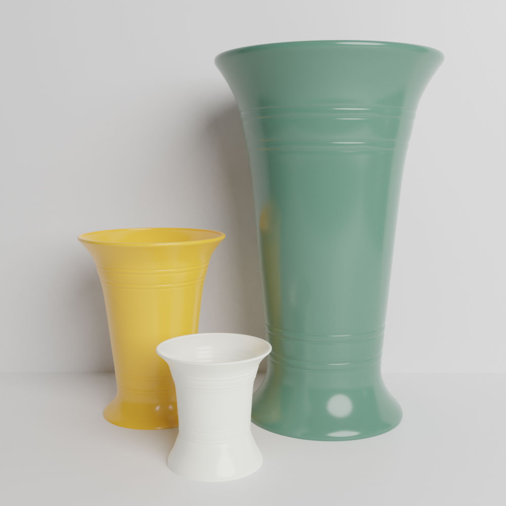 Bauer Pottery Florist Stock Vases