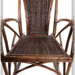 Antique Wicker Chairs Swivel Chair In Spanish Photo Abstract Closeup Of Rocking