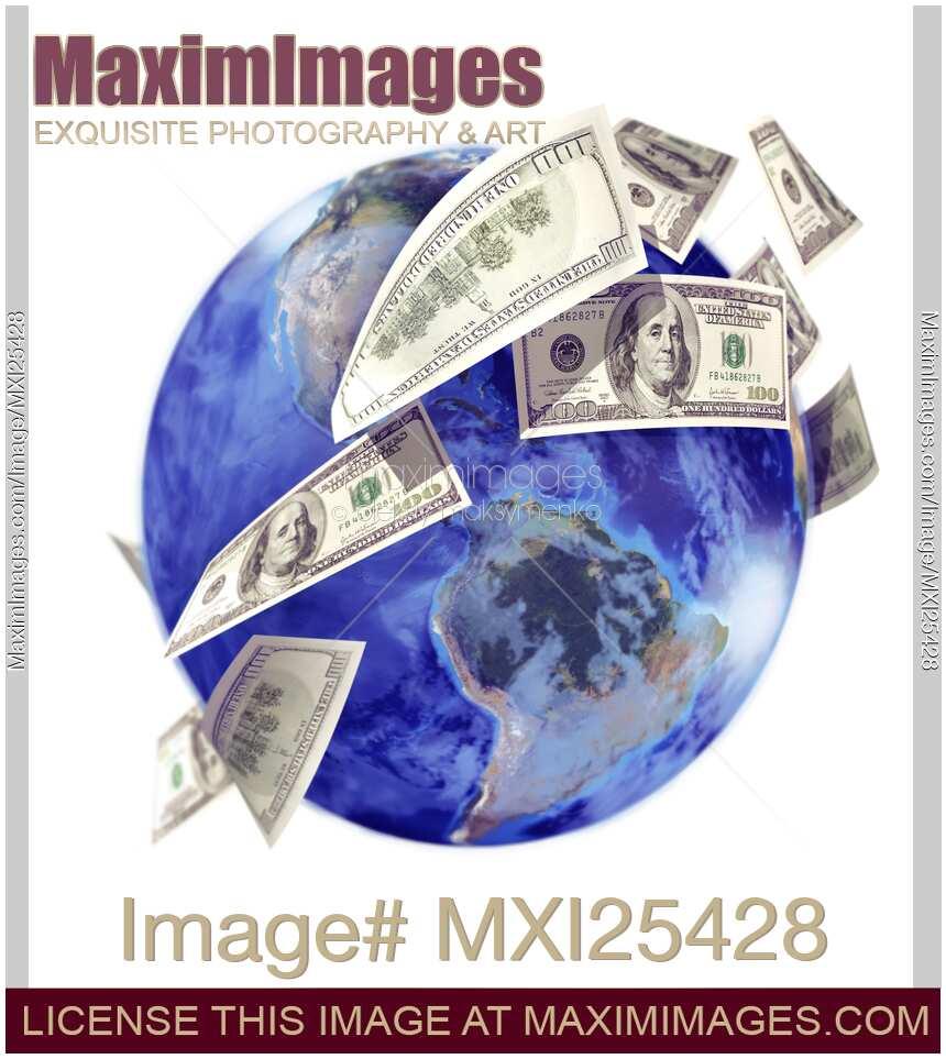 Stock illustration Global economy foreign capital money