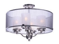 Lucid 4-Light Semi-Flush Mount - 24550SSSN | Warehouse ...