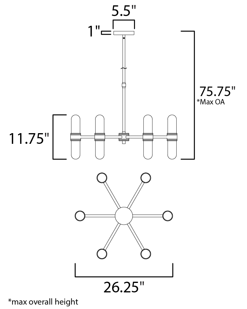 Dual 12-Light Chandelier