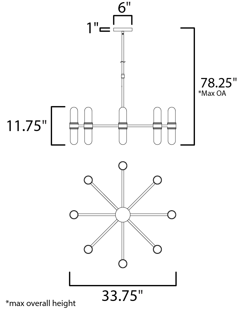 Dual 16-Light Chandelier