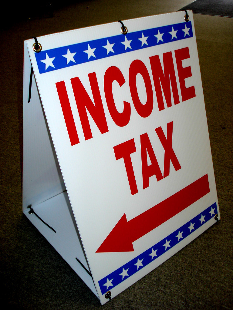 Professional Tax Software >> RED WHITE BLUE TAX PREPARATION SANDWICH BOARD, ADVERTISING SIGN DISPLAY