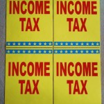 4 INCOME TAX INDOOR WINDOW SIGNS COROPLAST
