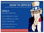 TAX PREPARATION BUSINESS CARDS WITH UNCLE SAM LOGO