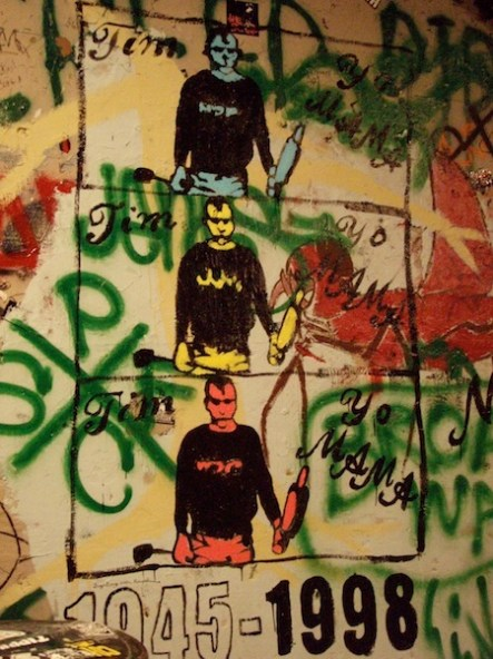 Tim Yo mural by Ariel Awesome and Julia Booze at Gilman, 2006