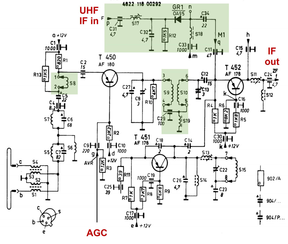 tv tuner card circuit diagram john deere d140 lawn tractor wiring philips history pt3 transistor tuners