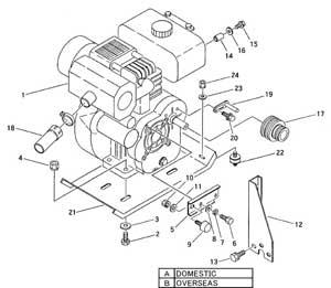 CANYCOM BFG1003 Crawler Dump ENGINE OC95-G-CHIKUSUI-1 OC95