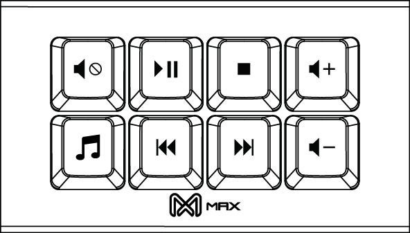 MAX FALCON-8 Programmable Mini Macropad Mechanical