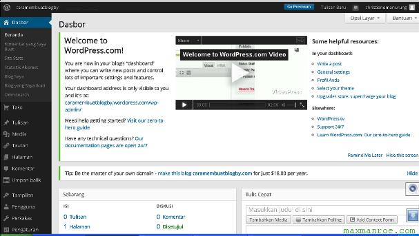 wordpress4 Bagaimana Cara Membuat Blog Gratis di WordPress dan Blogger