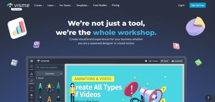 Visme, tools untuk membuat infografis