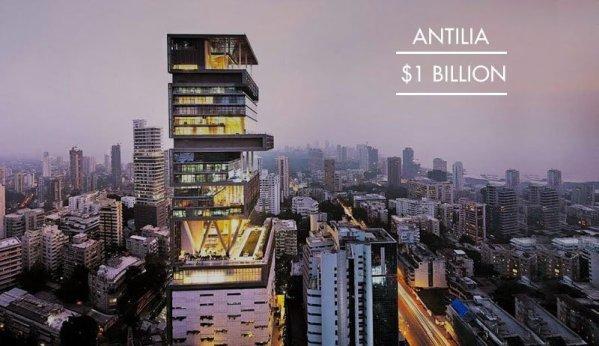 rumah mewah miliuner Antilia India