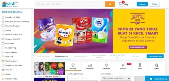 Situs Toko Online Blibli.com