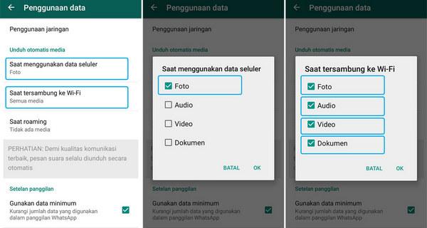 Pengaturan Pada Aplikasi WhatsApp