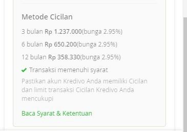 Pinjaman Online di Kredivo