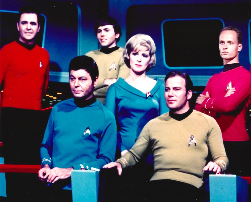 Willian Shatner, the Enterprise crew and me in 1994
