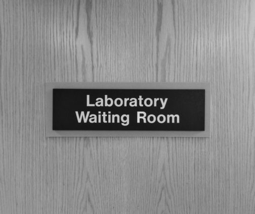 A laboratory waiting room. A basic metabolic panel might happen at place like this.