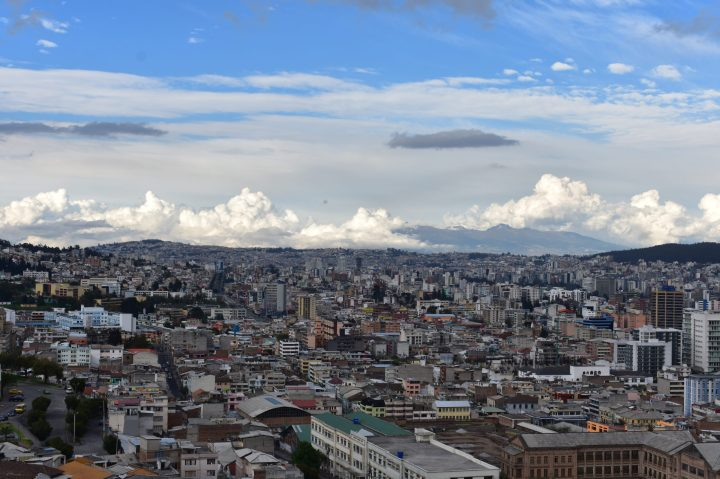 I photo of clouds above Quito. The Chautauqua wasn't too far from here.
