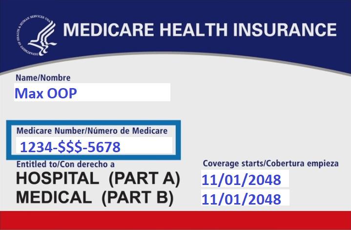 Max's Medicare card