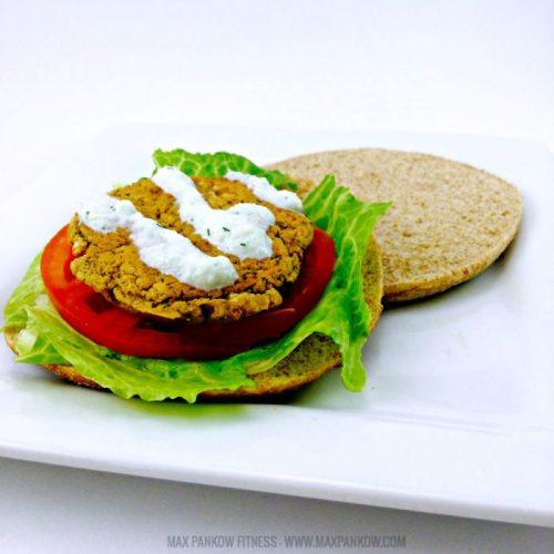 Baked Falafel Veggie Burger