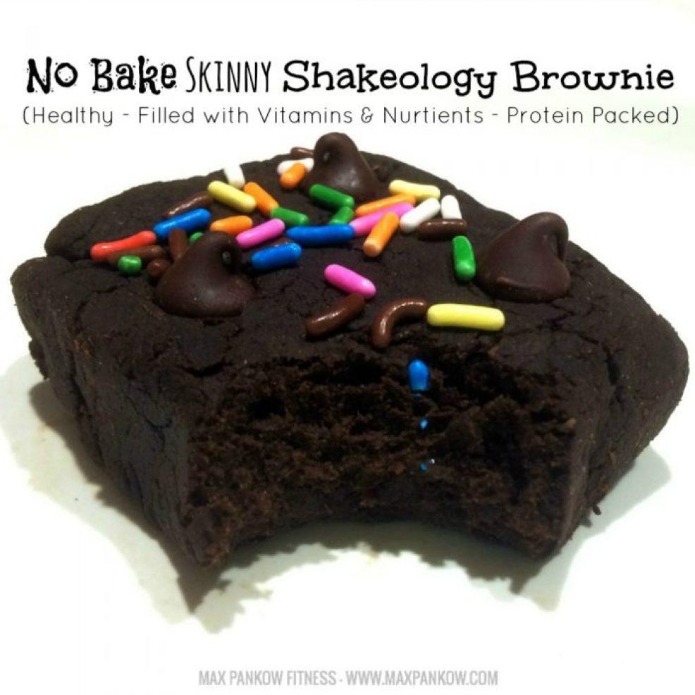 No Bake Skinny Shakeology Brownie