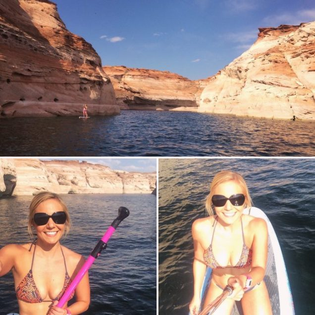 Paddleboarding Lake Powell