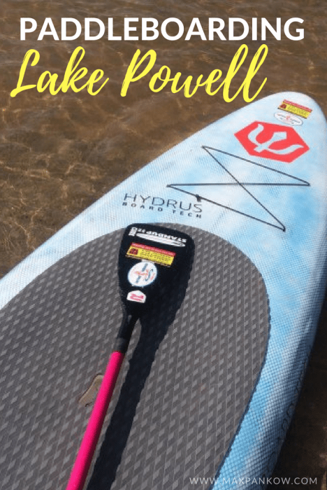 Talk about an adventure! Don't forget to add Paddle boarding at Lake Powell (Glen Canyon National Park) to your Grand Canyon road trip! #roadtrip #paddleboarding #lakepowell #glencanyon