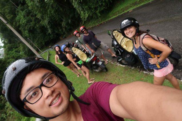 Group scootering through Langkawi
