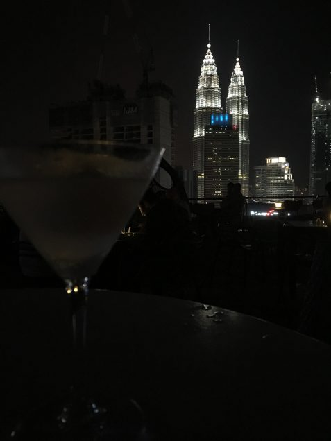View of Petronas Twin Towers from Heli Bar