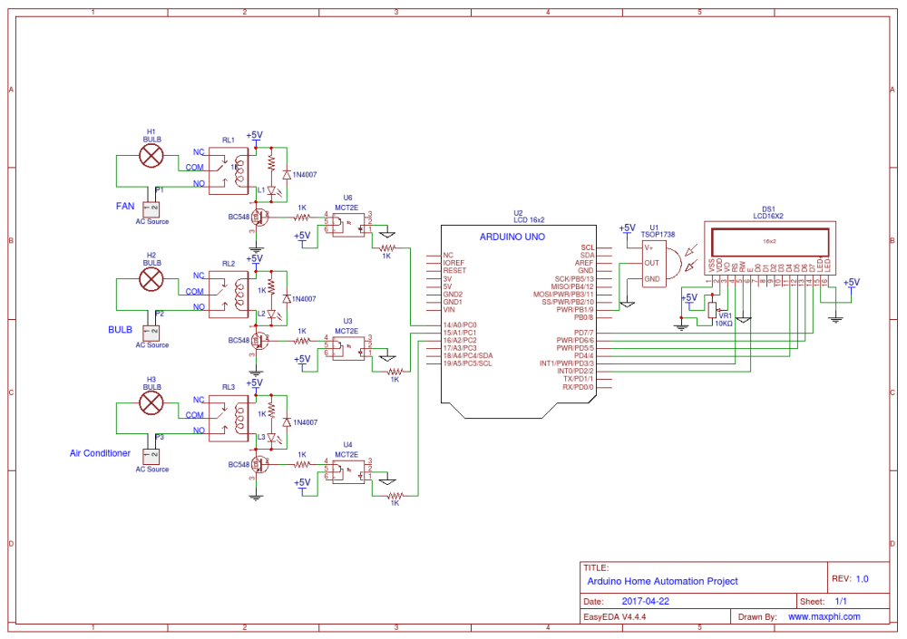 medium resolution of an arduino home automation project can be made using different wireless technology like bluetooth wifi android mobile or using ir remote control