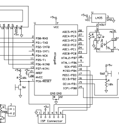 this is fan control using temperature sensor lm35 and avr atmega8 we can control any ac or dc  [ 1581 x 881 Pixel ]