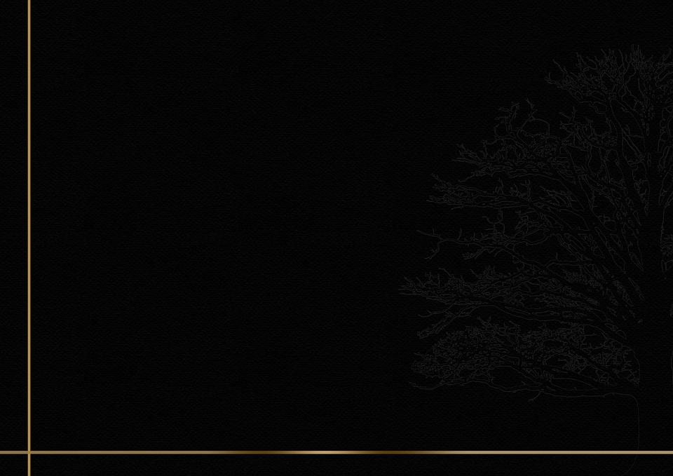 Free Photo Background Tree Black Frame Trauerkarte Gold