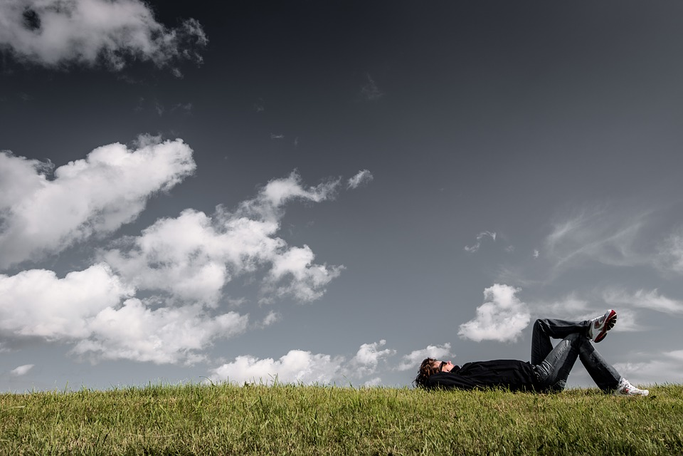 Peace Black Wallpaper Free Photo Boy Grass Man Resting Thinking Relaxing Lying