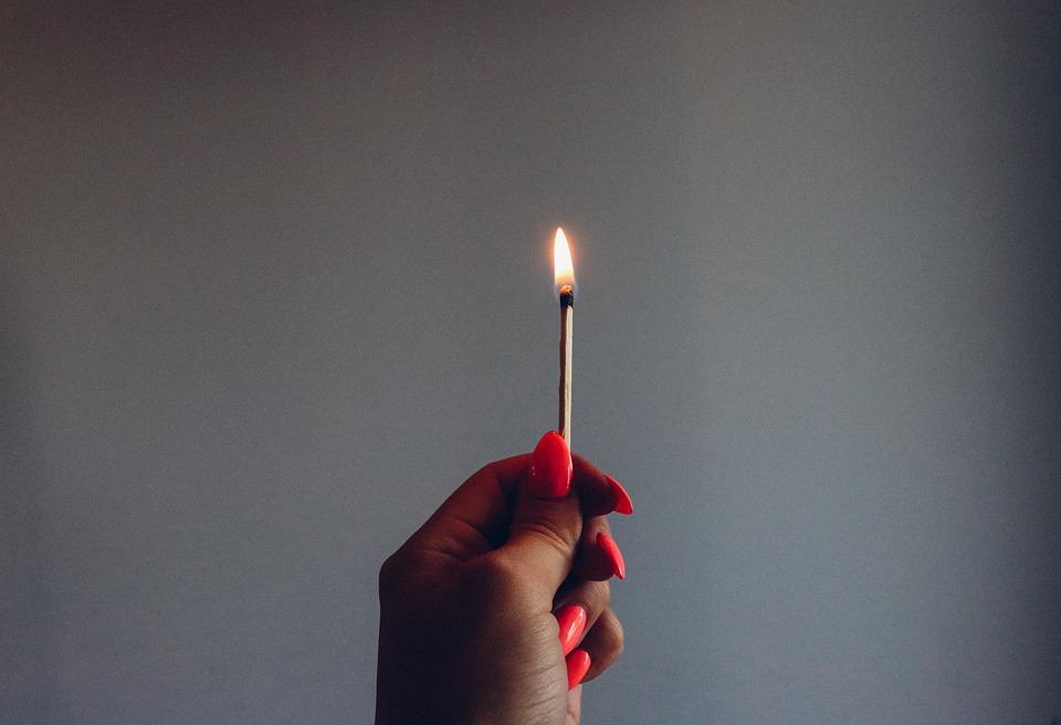 free photo burning match