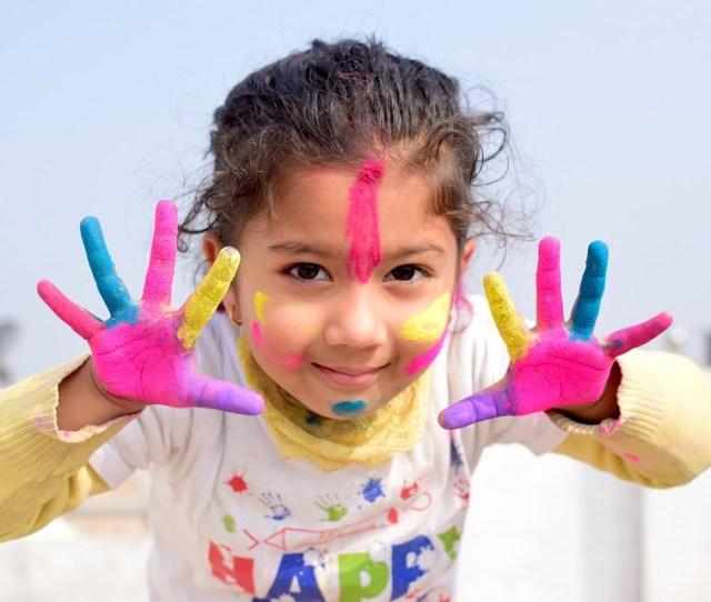 Child Fun Cute Joy Little Colors Colorful Holi