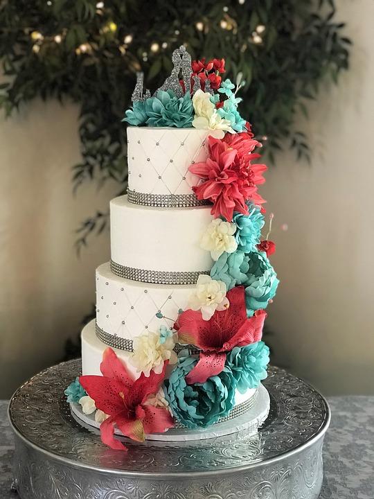 Free Photo Dessert Flowers Cakes Wedding Wedding Cake Cake Max Pixel